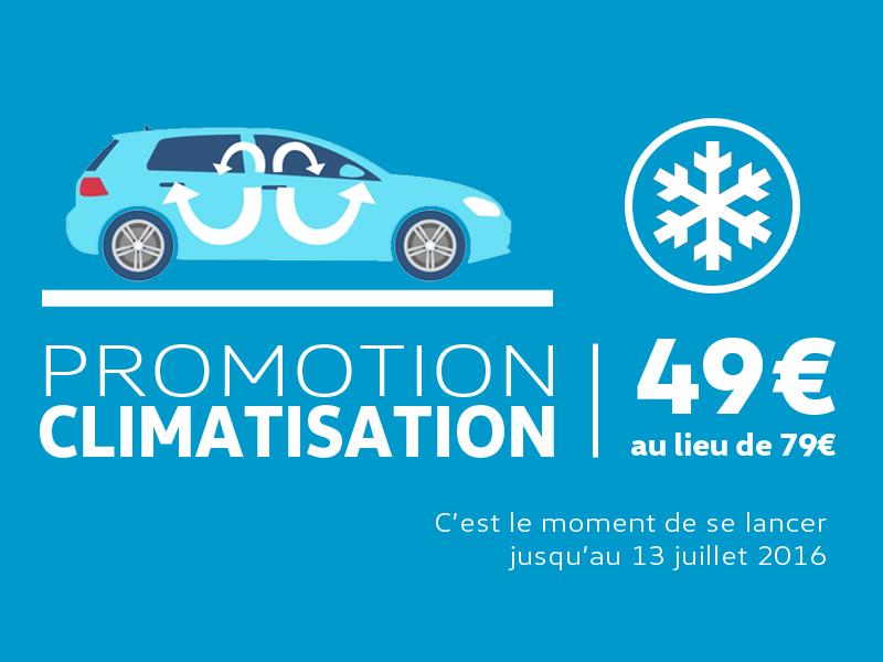 Promotion forfait climatisation for Garage entretien volkswagen